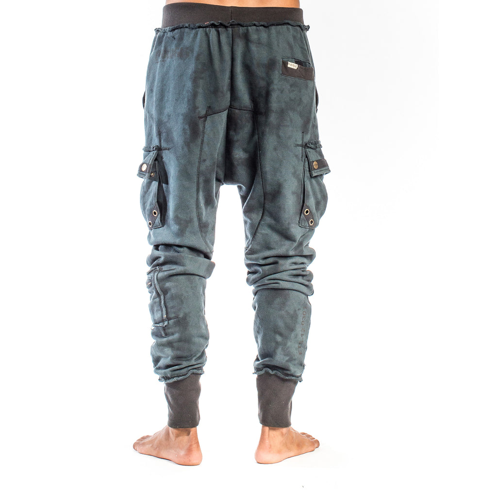 SAMURAI SWEATPANT Smoke Dye Indigo Night (back view) PEACEfits