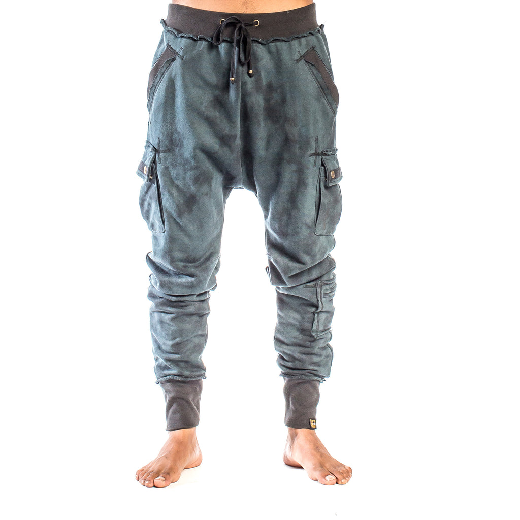 SAMURAI SWEATPANT Smoke Dye Indigo Night (front view) PEACEfits