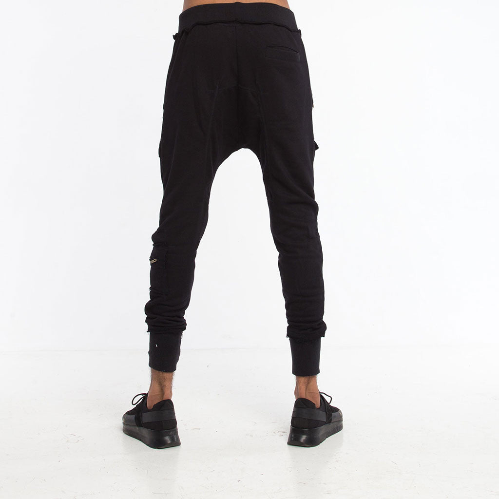 Men's Bottoms - SAMURAI SWEATPANT - Solid Black - PEACEfits