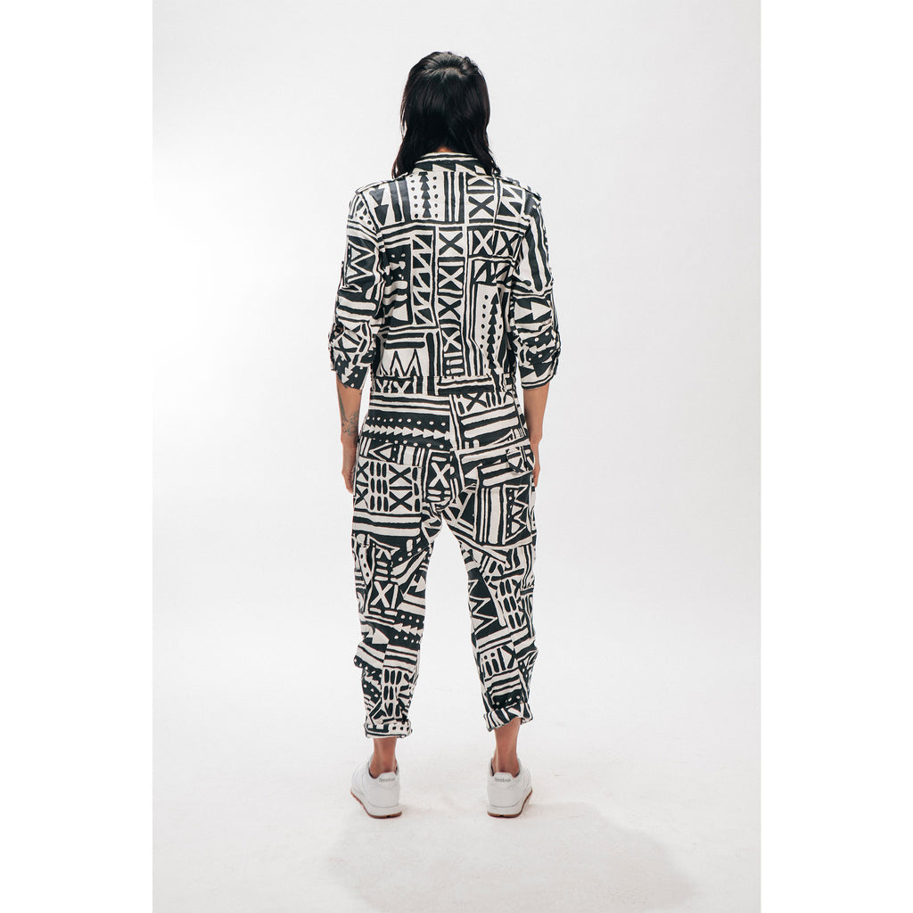 Boiler Suit OnePEACE X-TRiBE White Black Outernational PEACE FITS