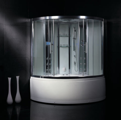 DA324 HF3 Atlantic Bath Steam Shower & Whirlpool Bath Tub Combination