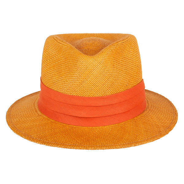 Teardrop Panama Orange/Rust - San Francisco Hat Co Au - 2