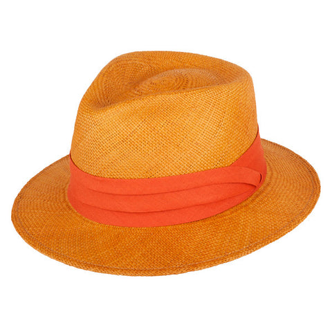 Teardrop Panama Orange/Rust - San Francisco Hat Co Au - 1