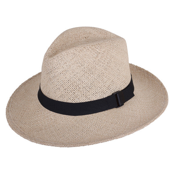 Classic Folding Fedora Natural - San Francisco Hat Co Au - 1
