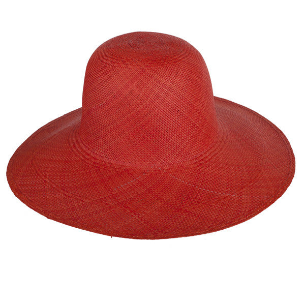 Classic Panama Sunhat Red - San Francisco Hat Co Au