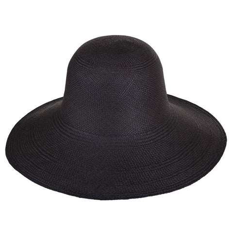 Classic Panama Sunhat Black - San Francisco Hat Co Au - 1