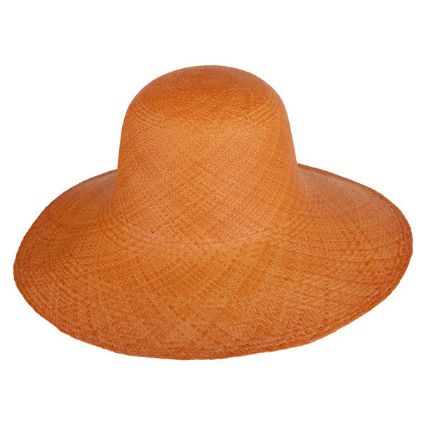Classic Panama Sunhat Orange - San Francisco Hat Co Au - 1