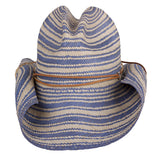 Striped Rustic Blue - San Francisco Hat Co Au - 2