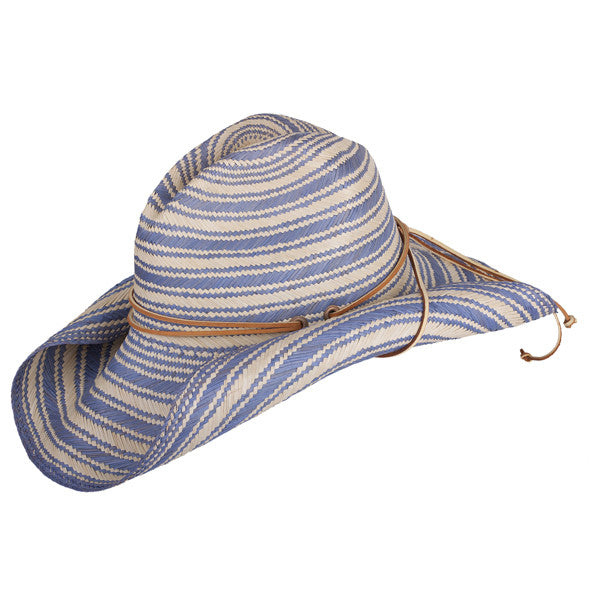 Striped Rustic Blue - San Francisco Hat Co Au - 1