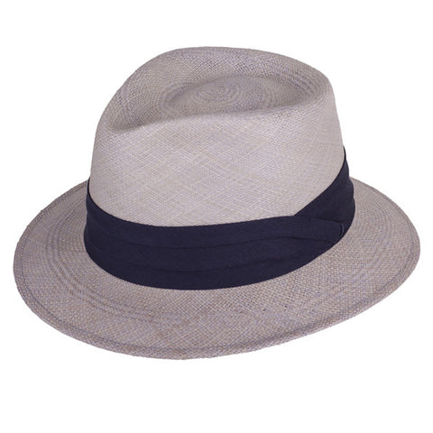 Teardrop Panama Periwinkle/Navy - San Francisco Hat Co Au - 1