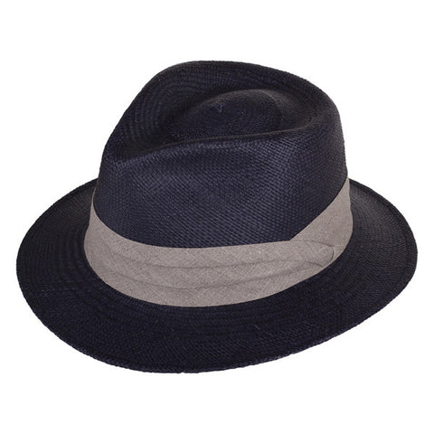 Teardrop Panama Navy/Ecru - San Francisco Hat Co Au - 1