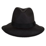 Leslie Fedora Black/Black - San Francisco Hat Co Au - 2