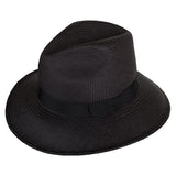 Leslie Fedora Black/Black - San Francisco Hat Co Au - 1