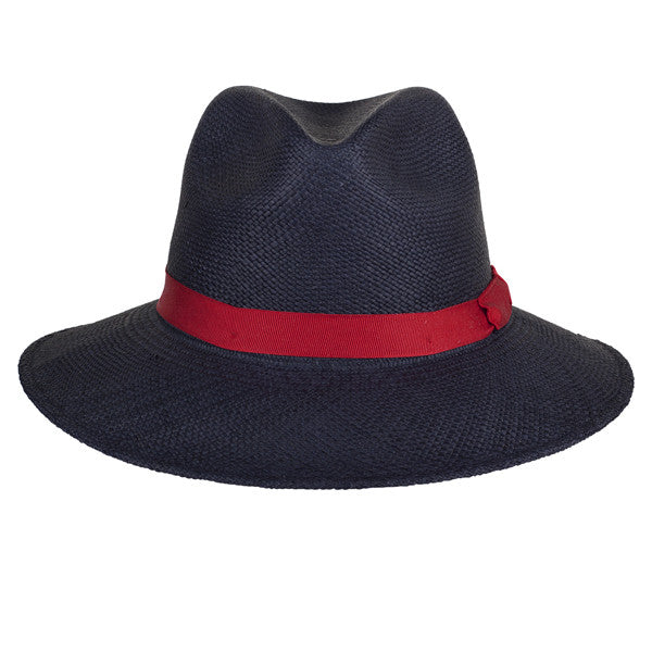 Town Fedora Navy/Red - San Francisco Hat Co Au - 2