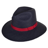 Town Fedora Navy/Red - San Francisco Hat Co Au - 1