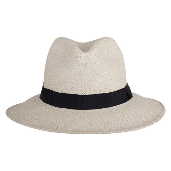 Leslie Fedora Natural/Black - San Francisco Hat Co Au - 2