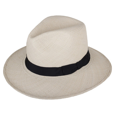 Leslie Fedora Natural/Black - San Francisco Hat Co Au - 1