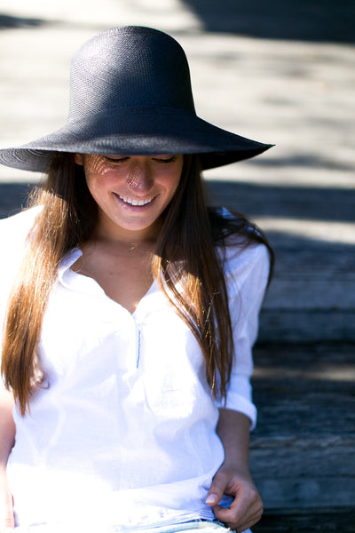Classic Panama Sunhat Black - San Francisco Hat Co Au - 2