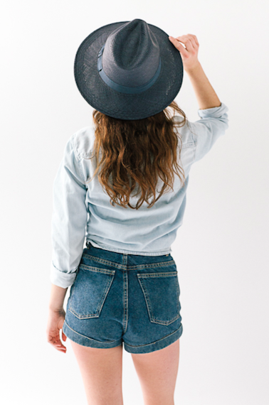 Leslie Fedora Navy/Navy - San Francisco Hat Co Au - 2