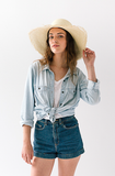 Classic Panama Sunhat Fringed - San Francisco Hat Co Au - 3