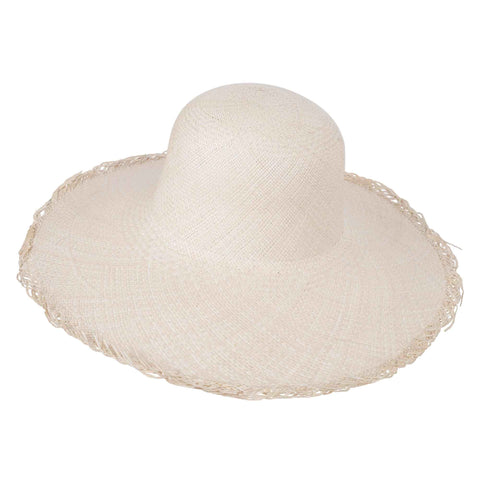 Classic Panama Sunhat Fringed - San Francisco Hat Co Au - 1