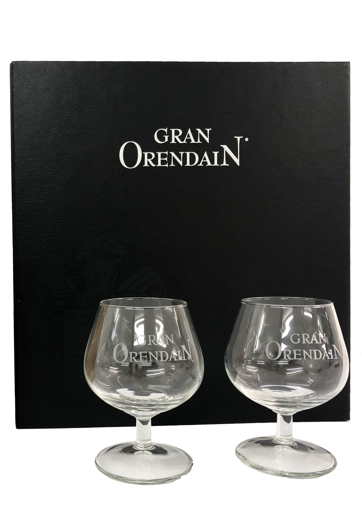 Individual Gran Orendain Gift Box with two crystal cups