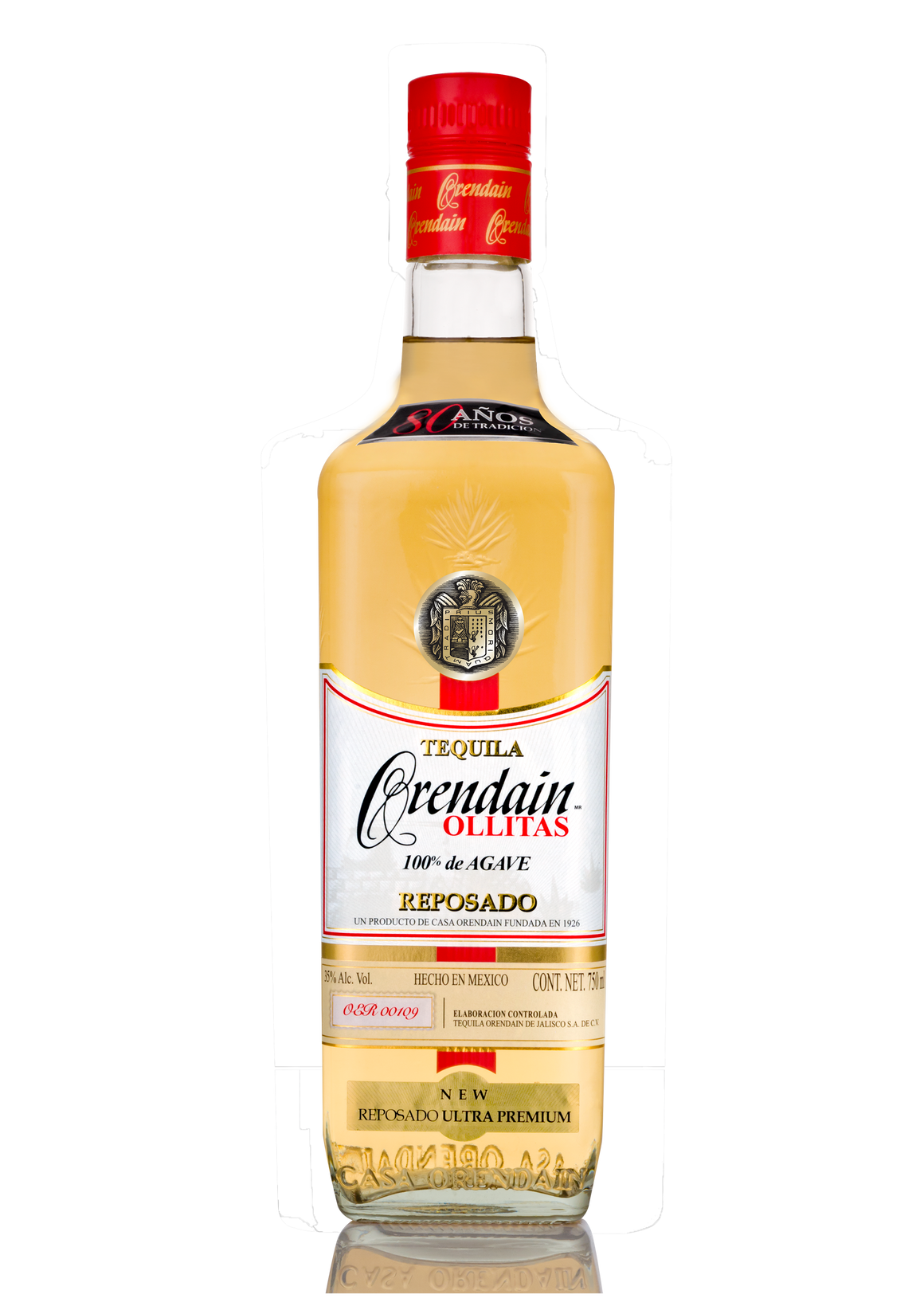 Old bottle Orendain Ollitas Reposado 100% Blue Agave