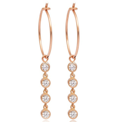 Vivere Hoop Earrings