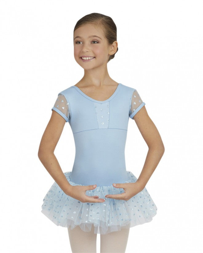 Cap Sleeve Tutu Dress by Capezio (Light Blue) 10128C - Dancer's Wardrobe