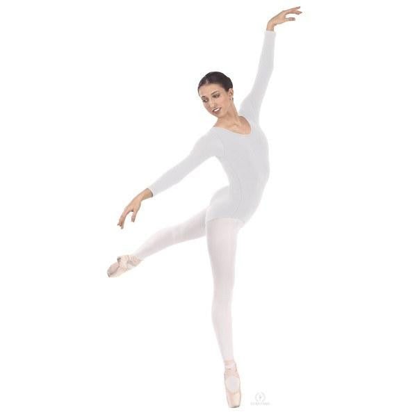 Long Sleeve Leotard (White) - Dancer's Wardrobe
