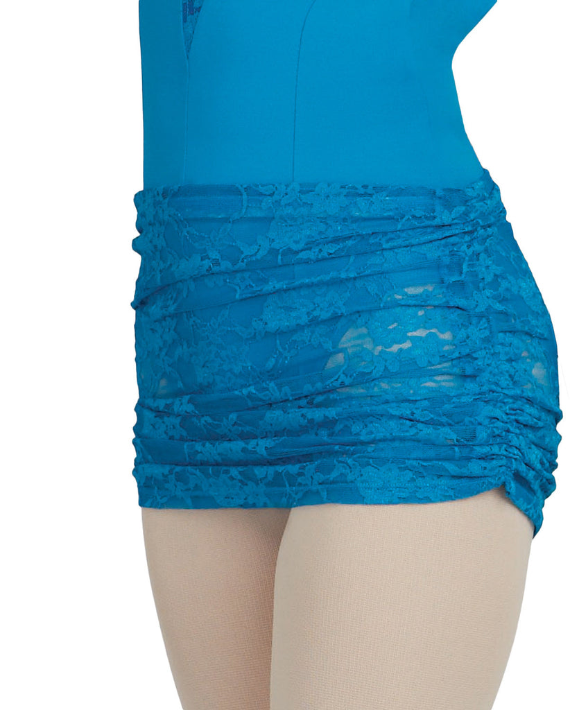 Adult Ruched Pull-on skirt (Small/Medium) (Morccan Blue) 10319 - Dancer's Wardrobe
