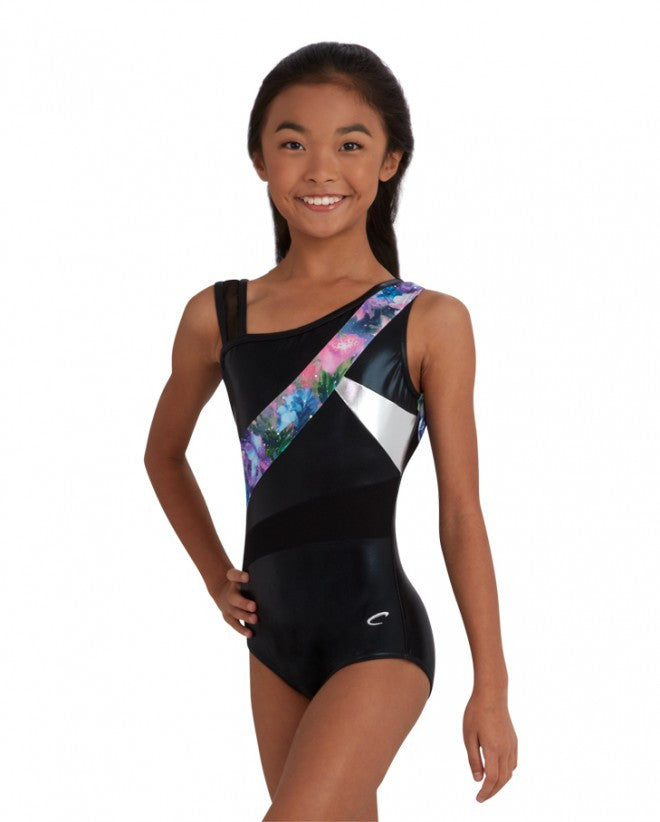 Asymmetrical Gymnastic Leotard 10530C - Dancer's Wardrobe