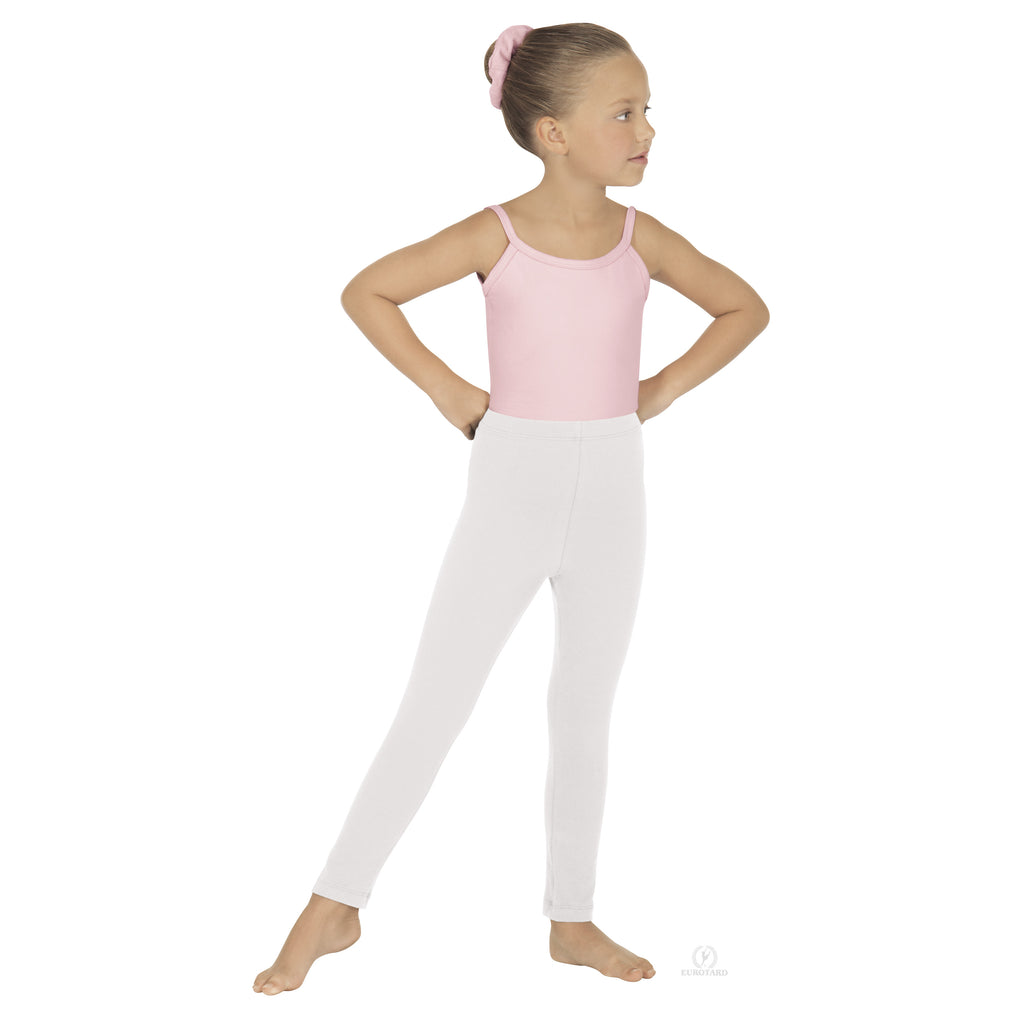Child Ankle Leggings Eurotard White 1066