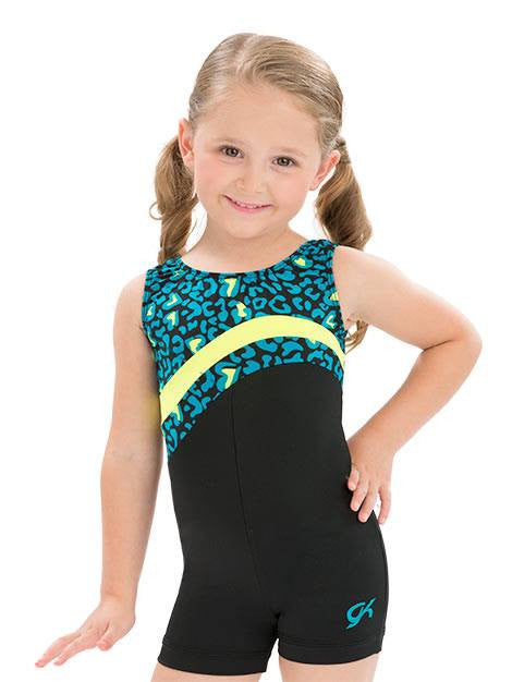Neon Wave Biketard GK E2675 - Dancer's Wardrobe