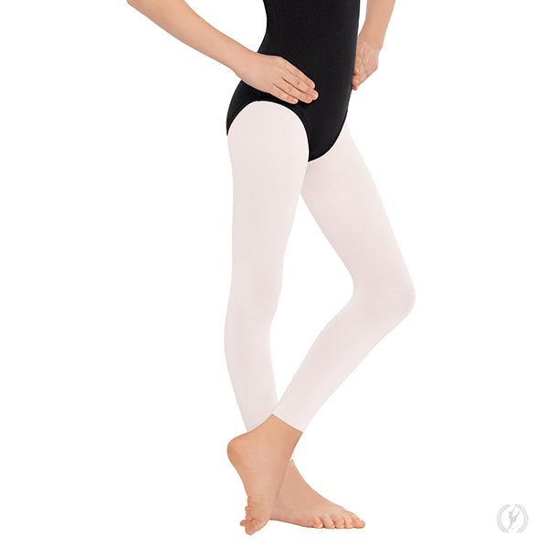 Non-Run Footless Tights 112C - White, Child Size Small/Medium