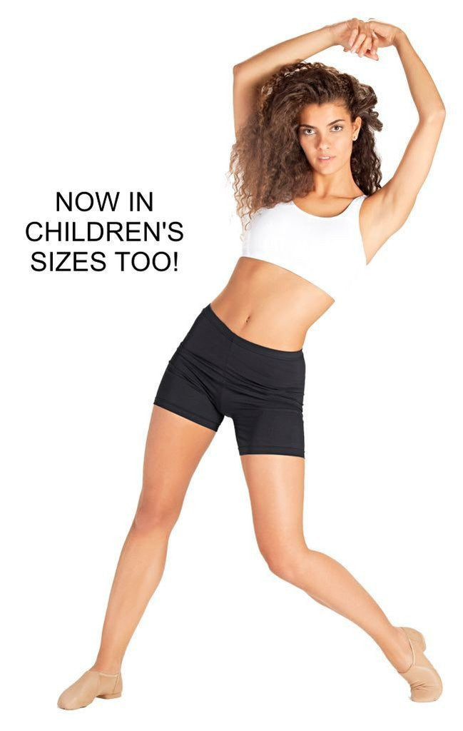 Adult Elastic Waist Shorts with longer leg - Dancer's Wardrobe