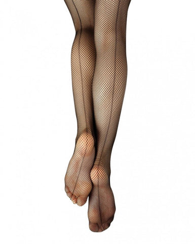 Child Studio Basics Seamed Fishnet Tight with Seams 3408C - Dancer's Wardrobe