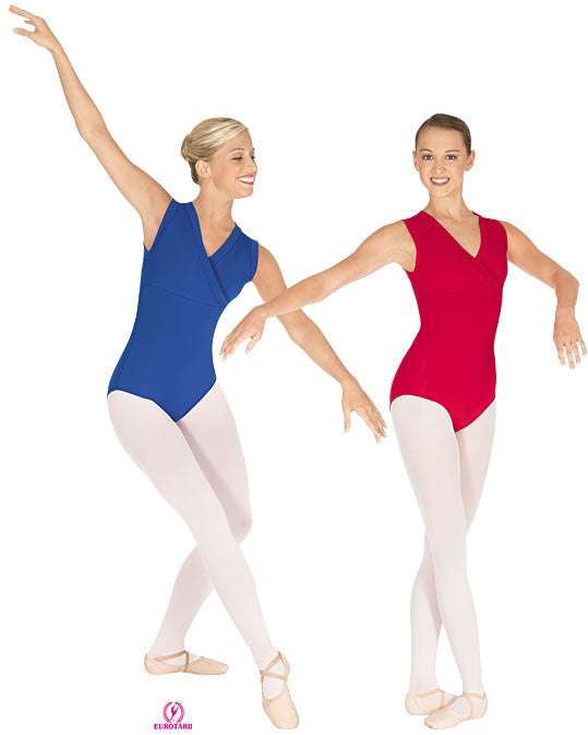 Adult Front Wrap Tank Leotard - Dancer's Wardrobe