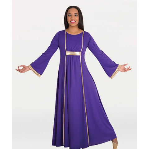 Praise Dress with Princess Seam Panels - Dancer's Wardrobe