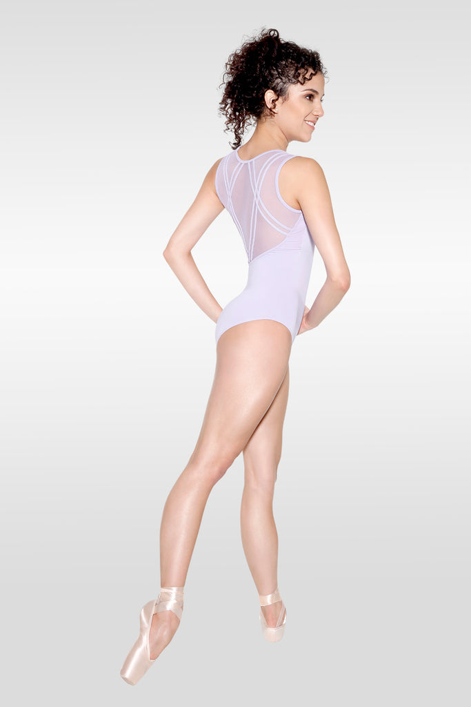 Adult Polina Tank Leotard With Mesh Inserts D-1647 So Danca ( Black )