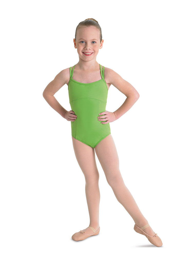 Child Double Cross Back Leotard - Dancer's Wardrobe
