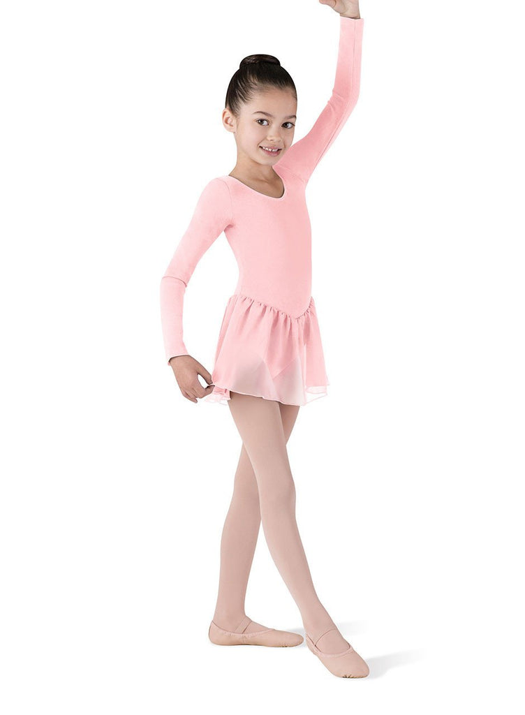 Child Long Sleeve Skirted Leotard CL5309