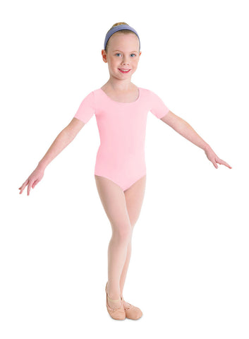 Child Basic Short Sleeve Leotard (Candy Pink) cl5402 - Dancer's Wardrobe