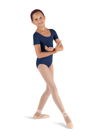 Child Basic Short Sleeve Leotard (Navy) cl5402 - Dancer's Wardrobe