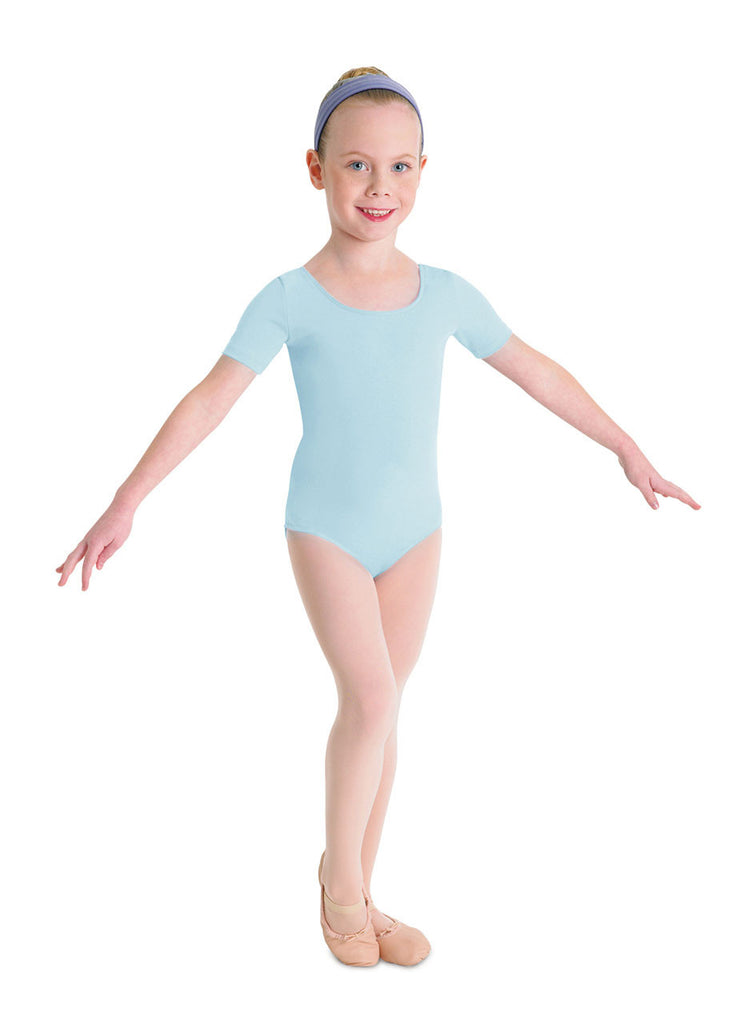 Child Basic Short Sleeve Leotard (Pastel Blue) cl5402 - Dancer's Wardrobe