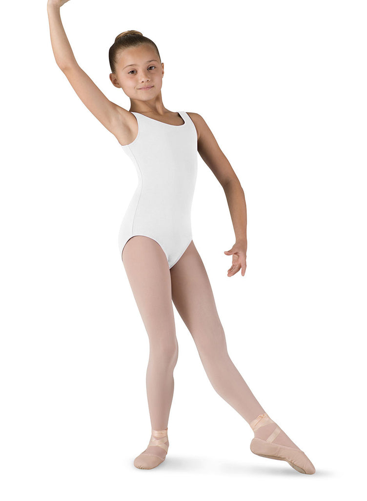 Child Basic Tank Leotard (White) cl5405 - Dancer's Wardrobe