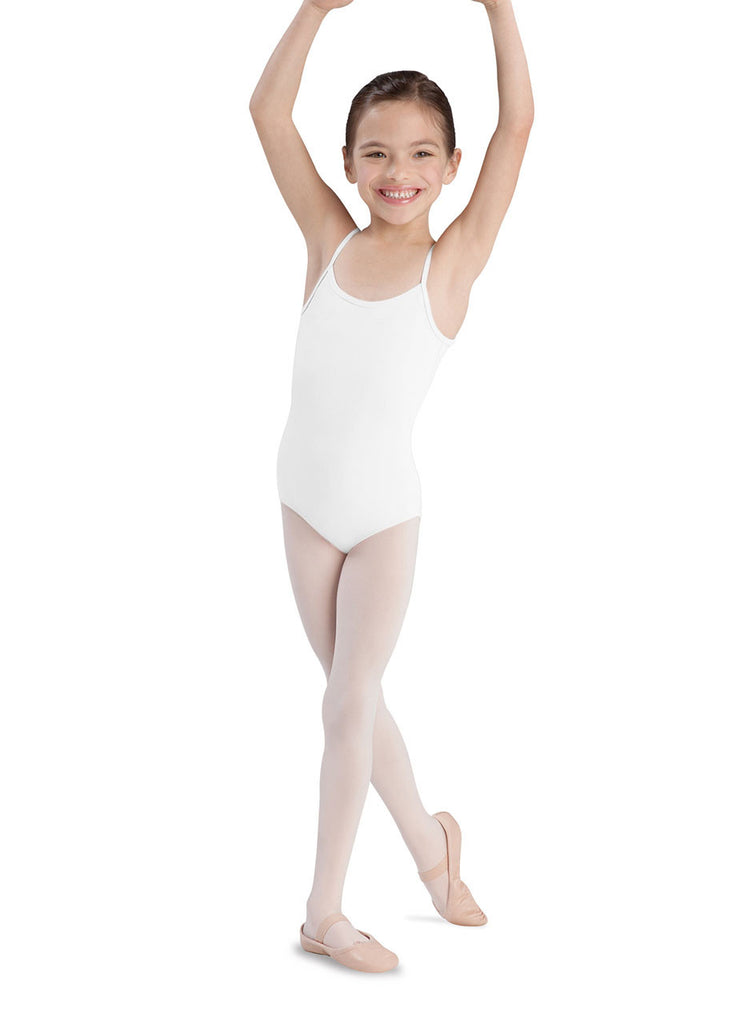 Child Basic Cami Leotard (White) CL5407 - Dancer's Wardrobe