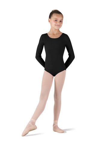 Child Basic Long Sleeve Leotard (Black) CL5409 - Dancer's Wardrobe