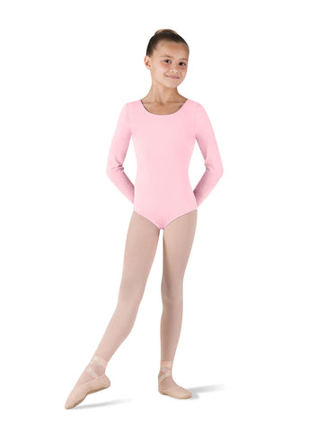 Child Basic Long Sleeve Leotard (Candy Pink) CL5409 - Dancer's Wardrobe