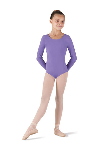 Child Basic Long Sleeve Leotard (Lavender) CL5409 - Dancer's Wardrobe